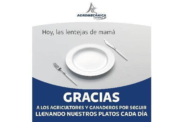 Gracias por seguir llenando nuestros platos cada día